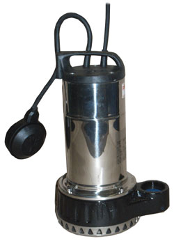 WMT series of submersible pumps for use in flooded basements, cellars and garages and for drainage of swimming pools and tanks.