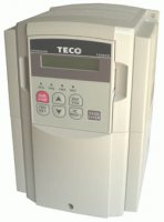 [2.2kW, 5.2A, 3-phase 380-480Vac TECO inverter, type: CV-4003-H3F with filter]